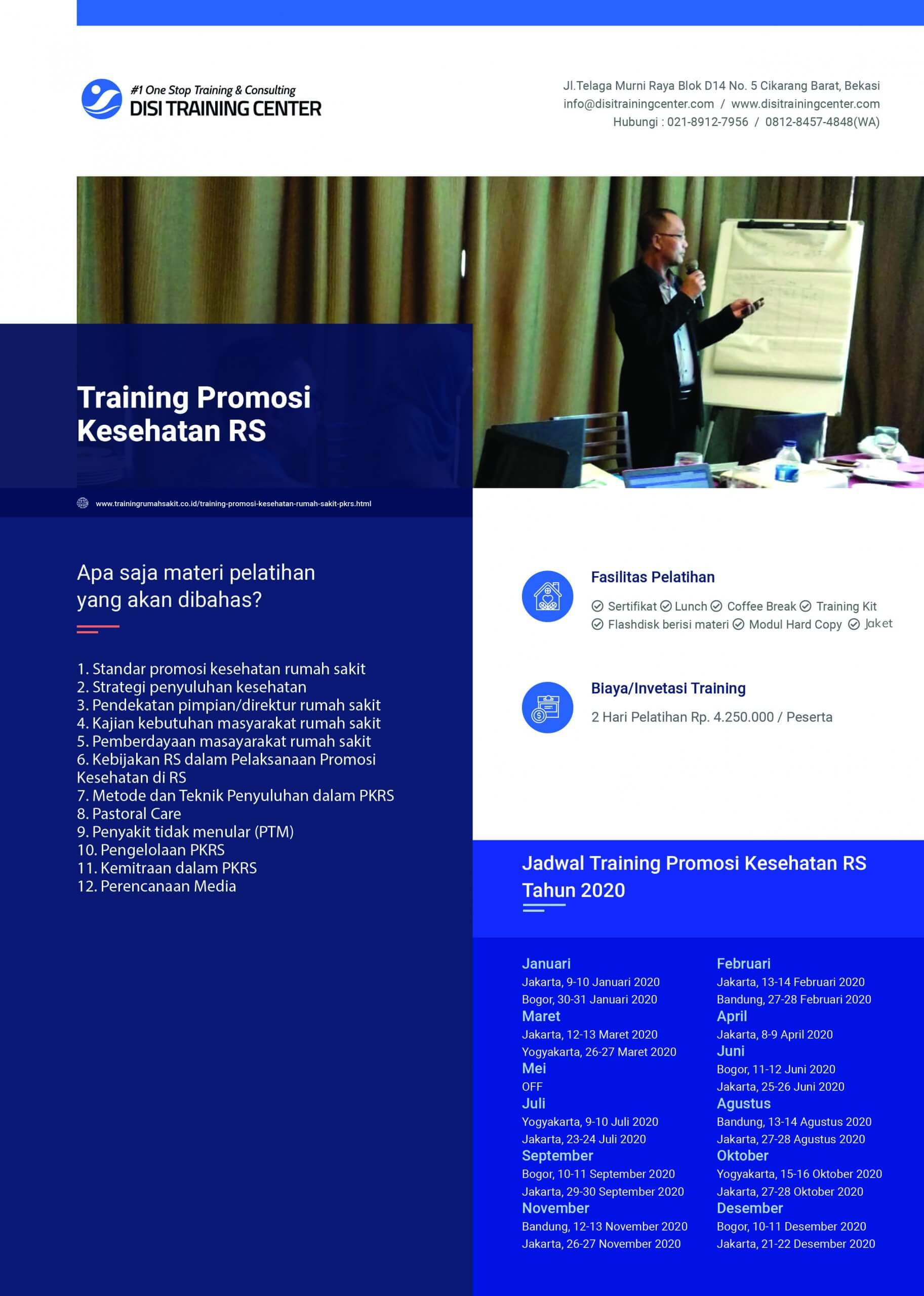 Training Promosi Kesehatan Rumah Sakit